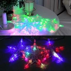 LED 별장식 8조 투명선 무점멸기
