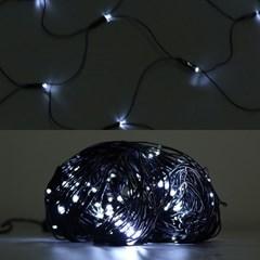 LED 네트 160구 8W 검정선 무점멸기 (백색)