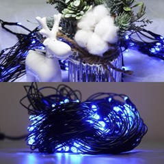 LED 네트 160구 8W 검정선 무점멸기 (청색)