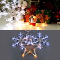 LED 24V 눈+별 장식 4W 투명선 점멸기