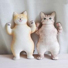 돌보니 환영해 고양이시바견 핸드메이드 인형