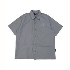 히든포켓 반팔 셔츠(GREY)_(1510412)