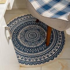 코지 러그 원형 거실 침실 카페트 사계절 패브릭