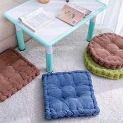 컴포트 쿠션 원형 사각 소파 패브릭 의자 방석 등받이