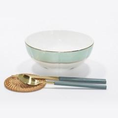 한국도자기 본차이나 더로얄 면기 1p 큰그릇 18cm