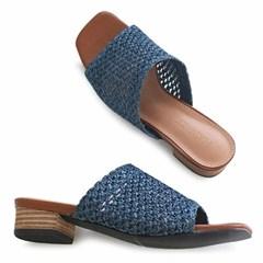 kami et muse Middle heel lattan mule slippers_KM20s240
