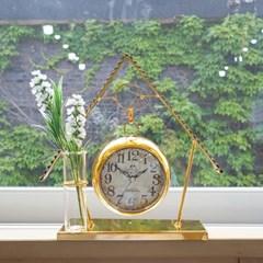 골드 하우스 탁상 알람시계 (1810)