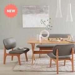 한샘 포레 릴렉스 4인 식탁 벤치세트 (의자2,벤치1 포함)_DIY