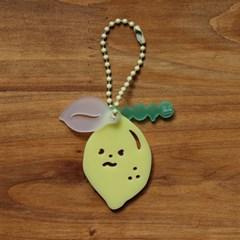 [ 키링 ] 빅 레몬 애벌레 ( 3 pieces ) 에어팟 키링