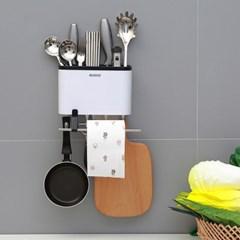 폰거치수저통 다용도벽걸이 행주걸이 과일칼 요리칼 분리수납