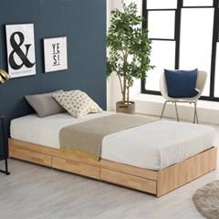 미코퍼니처 루시 3서랍 평상형 침대 SS + 독립매트리스