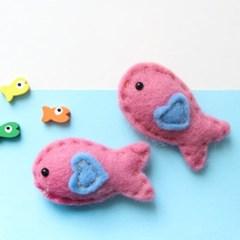 핑크물고기 양모펠트1p_(1313881)