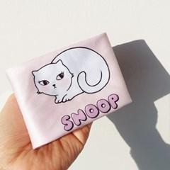 러블리 핑크 고양이 일러스트 안경닦이