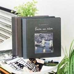 비팬시 흑지 미니접착앨범 포토북 초음파 스크랩북 폴라로이드
