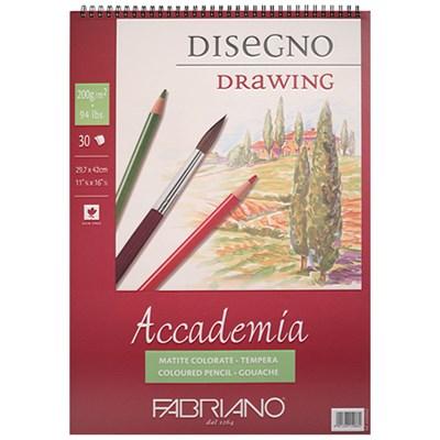 [파브리아노] 아카데미아 스케치북 스프링   과슈   A5   200g   AP0