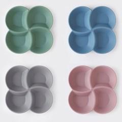 국산 실리콘 4절 나눔접시 (4colors)_(1958810)