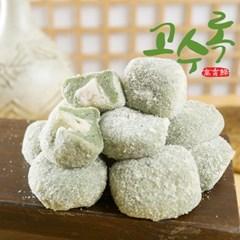 [농사랑]고수록 생모시 콩고물 두텁떡 1kg(24알) 1BOX