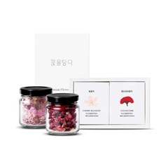 [꽃을담다] 핑크빛 우림색이 예쁜 꽃차 2종(맨드라미+벚꽃)