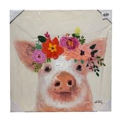 앳하스홈 아트 캔버스 픽처 50*50cm _ 플라워 피그 [Flower Pig]