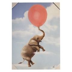 앳하스홈 아트 캔버스 픽처 50*70cm_ 풍선 부는 코끼리