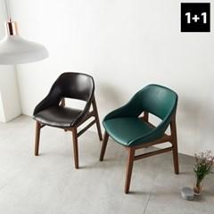 가구데코 모니카 1+1 디자인 가죽체어 식탁의자 NE0178