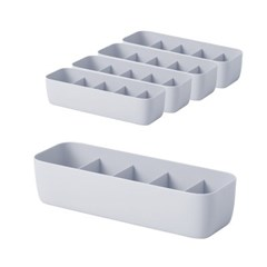 플라스틱속옷정리함 양말 수납함 팬티정리 박스 5칸