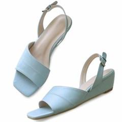 kami et muse Middle wedge back belt sandals_KM20s247