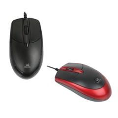 [LG] 마우스 유선 M-1200 (블랙/레드)_(12657686)