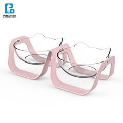 페로가토 냠냠 강아지식기 2구 - 핑크 (n)