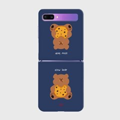 navy cookie slow bear Z플립 하드케이스_(938701)