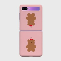 cherry slow bear Z플립 하드케이스_(938700)