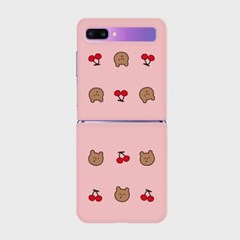 line cherry gummy pattern Z플립 하드케이스_(938697)