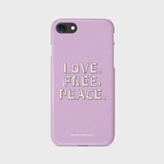 Love Free Peace 슬림하드 폰케이스