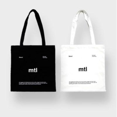 mtl logo ecobag (black/white)