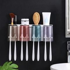 컬러컵 칫솔걸이세트 양치 욕실수납공간 욕실정리