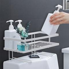 욕실 양변기 공간활용 무타공 스틸 수납선반 B70_(1223301)