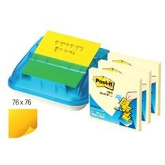 [3M]포스트잇 팝업디스펜서 C-4214 76x76mm+디스펜서_(12651444)