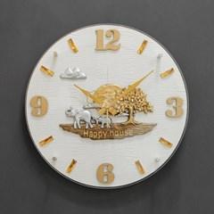 (khyn010)저소음 코끼리 가죽디자인 시계 (W)_(907438)