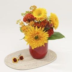 테디베어 해바라기 & 맨드라미 꽃다발 (생화, 전국택배)