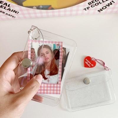 Clear Pocket 포켓카드지갑(투명,글리터)