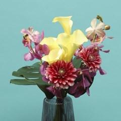 핑크 모카라 & 칼라 트로피컬 꽃다발 [퀵배송]