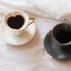 하트골드 커피잔 선물세트(2set)