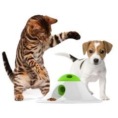 르칙 스낵볼 퍼즐러 그린화이트 고양이장난감_(1183381)