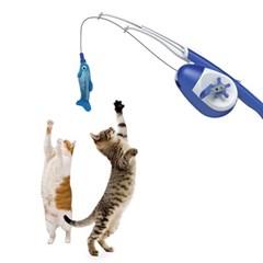 르칙 릴 낚시대 블루화이트 고양이장난감_(1183380)