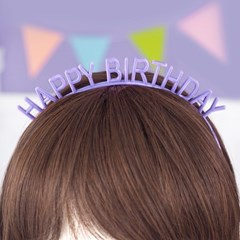 Happy Birthday Band 생일머리띠 [퍼플]_(12075831)