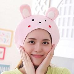 큐티 후드모자 [깜찍 토끼] 핑크_(12076242)