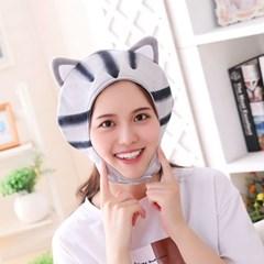 큐티 후드모자 [고양이] 그레이_(12076233)