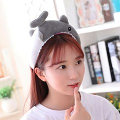 큐티 머리띠 [귀여운 상어] 그레이_(12076311)