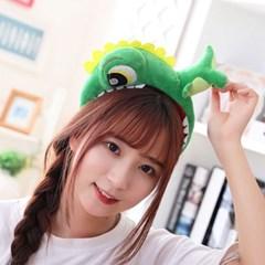 큐티 머리띠 [귀여운 공룡] 그린_(12076310)