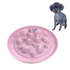 캑터스 슬로우피더 강아지 급체방지 식기(핑크)